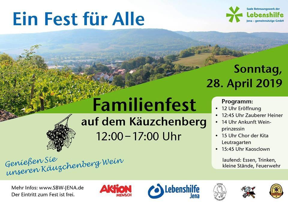 Wir sind zu Gast beim Familienfest auf dem Käuzchenberg am Sonntag, 28.04.2019 von 12.00 bis 17.00 Uhr